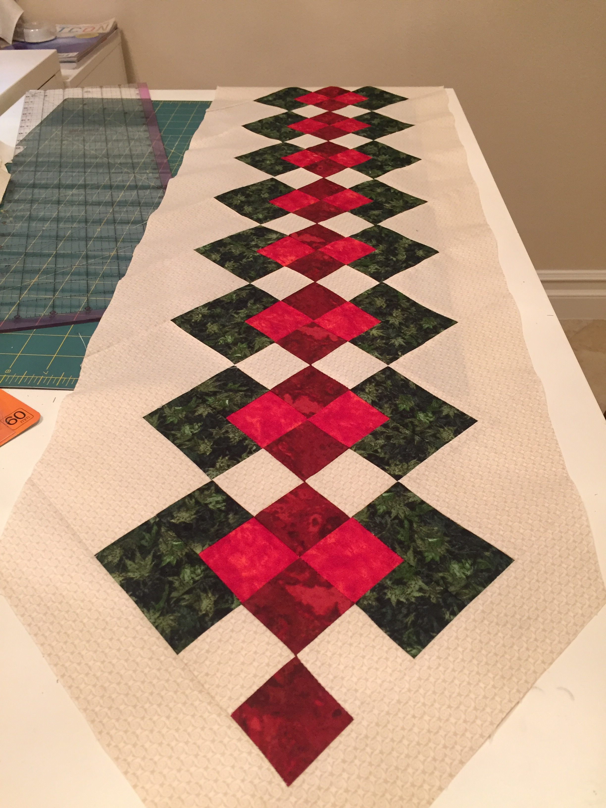 Quilted Christmas Table Runner Patterns Free Easy.Wip Seminole Table Runner Hobbies Up To Here